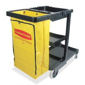 #6173 Rubbermaid Janitorial Cart Image 1