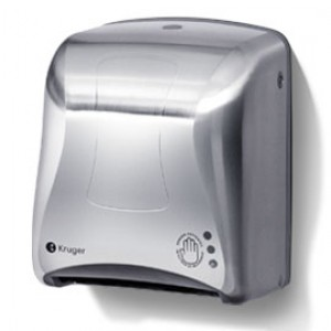 Mini-Titan Electronic Towel Dispenser - Silver Image 1
