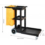 Extra Large Janitorial Cart